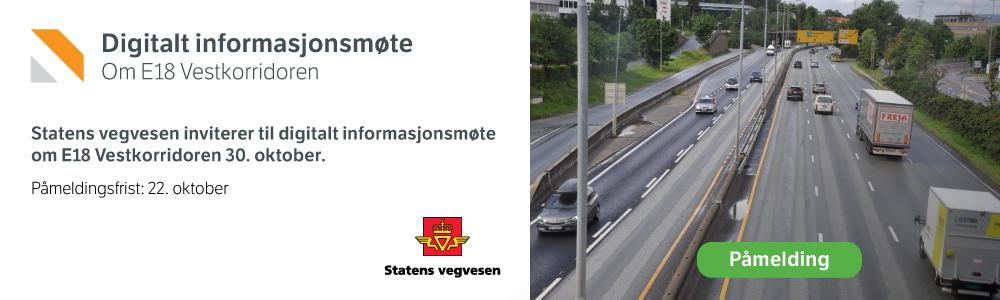 Statens Vegvesen E18 Banner